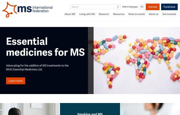 Vorschau von www.msif.org, Multiple Sklerosis Internationale Vereinigung (MSIF)
