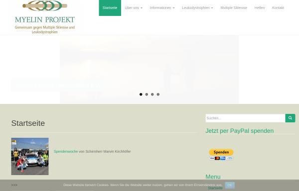 Vorschau von www.myelin.de, Myelin Projekt Deutschland e.V.