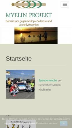 Vorschau der mobilen Webseite www.myelin.de, Myelin Projekt Deutschland e.V.