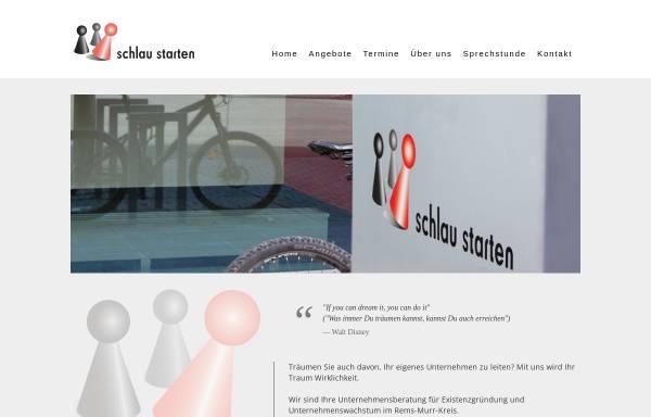 Vorschau von www.schlau-starten.com, Schlau Starten Existenzgründungsberatung