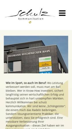 Vorschau der mobilen Webseite www.schulz-kommunikation.de, Schulz Kommunikation
