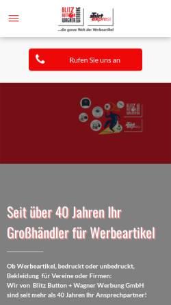 Vorschau der mobilen Webseite www.wwp-werbeartikel.de, Wagner Werbung Palette GmbH
