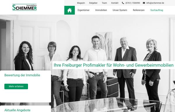 Vorschau von www.schemmer.de, Schemmer Immobilien