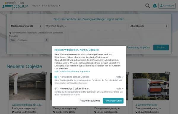Vorschau von www.immobilienpool.de, immobilienpool.de Media GmbH & Co KG