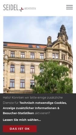 Vorschau der mobilen Webseite www.seidelarchitekten.de, Seidel Architekten
