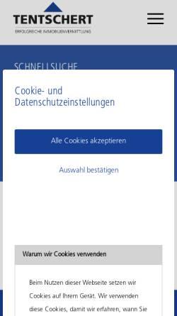 Vorschau der mobilen Webseite www.tentschert.de, Tentschert Immobilien GmbH & Co KG