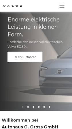 Vorschau der mobilen Webseite www.volvocars-haendler.de, Autohaus Gross