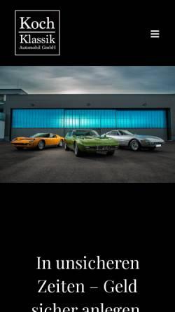 Vorschau der mobilen Webseite koch-klassik.de, Koch-Klassik