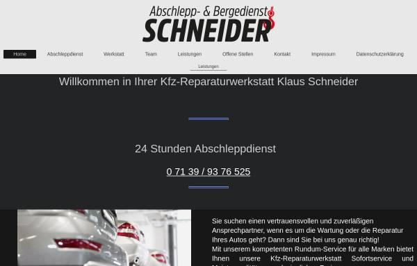 Vorschau von www.kfz-schneider.de, Kfz-Service Schneider