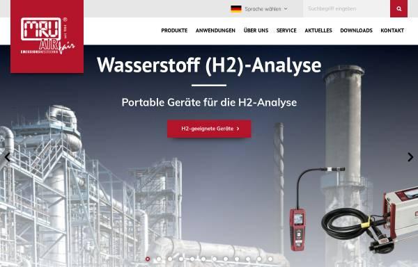 Vorschau von www.mru.eu, MRU GmbH