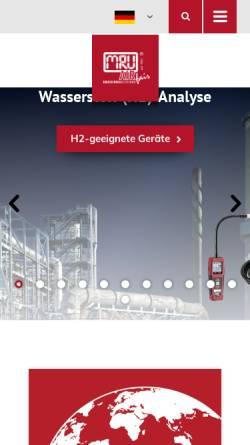 Vorschau der mobilen Webseite www.mru.eu, MRU GmbH