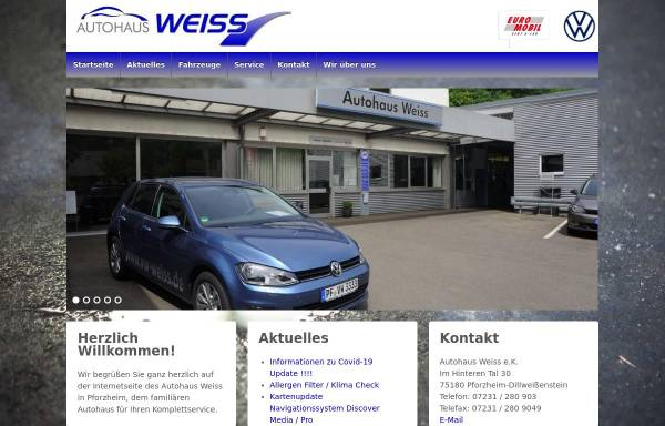 Vorschau von www.vw-weiss.de, Autohaus Weiss