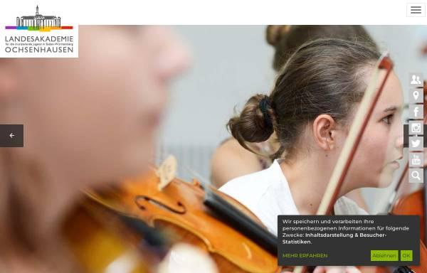 Vorschau von www.landesakademie-ochsenhausen.de, Landesakademie für die musizierende Jugend - Ochsenhausen