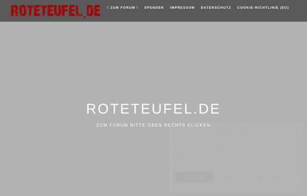 Vorschau von www.roteteufel.de, Internetfanclub Roteteufel
