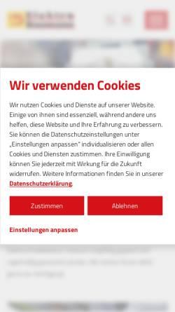 Vorschau der mobilen Webseite www.elektro-baumann.de, Elektro Baumann GmbH
