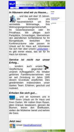 Vorschau der mobilen Webseite www.wundp-online.de, W & P Haus- und Garten-Service GmbH