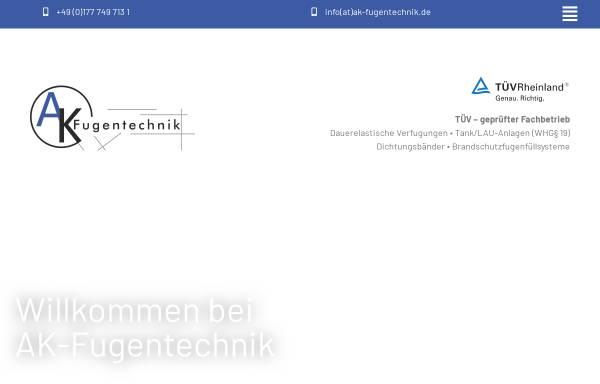 Vorschau von www.ak-fugentechnik.de, AK Fugentechnik - Inh. Kremser Andreas