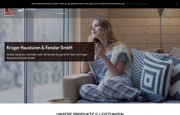 Vorschau von www.krueger-fenster.de, Krüger Haustüren & Fenster GmbH