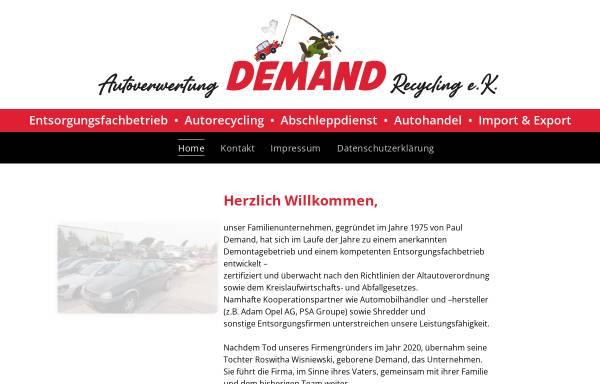 Vorschau von www.autoverwertung-demand.de, Autoverwertung Demand - Recycling e. K.