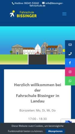 Vorschau der mobilen Webseite www.bissinger-fahrschule.de, Fahrschule Bissinger