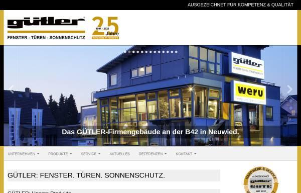 Vorschau von guetler.de, Gütler GmbH - Fenster Türen Sonnenschutz