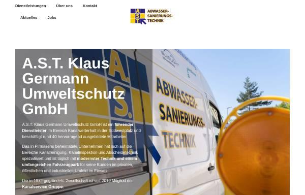Vorschau von www.umweltschutz-germann.de, Klaus Germann Umweltschutz GmbH
