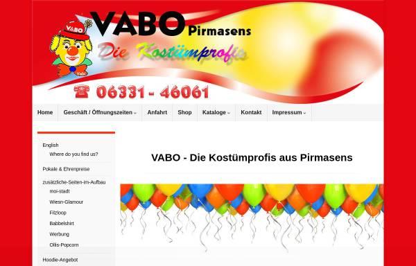 Vorschau von www.vabolino.de, VABO - Die Kostümprofis