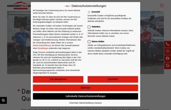 Vorschau von www.gebr-folz.de, Gebrüder Folz GmbH
