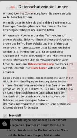 Vorschau der mobilen Webseite www.gebr-folz.de, Gebrüder Folz GmbH