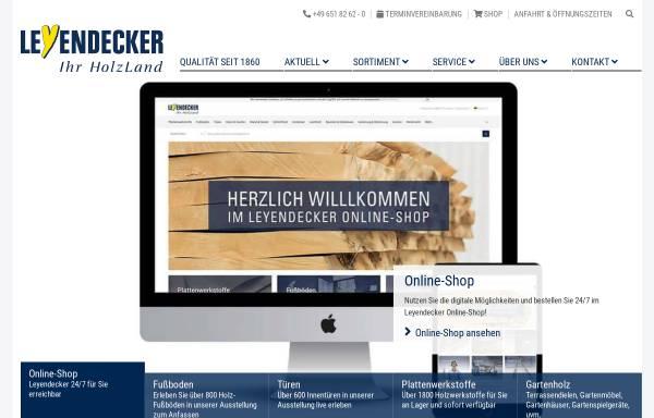 Vorschau von www.leyendecker.de, Holzland Leyendecker GmbH & Co.KG
