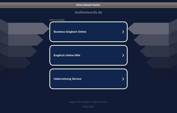 Vorschau von www.inotherwords.de, Inotherwords Anke Hoppert