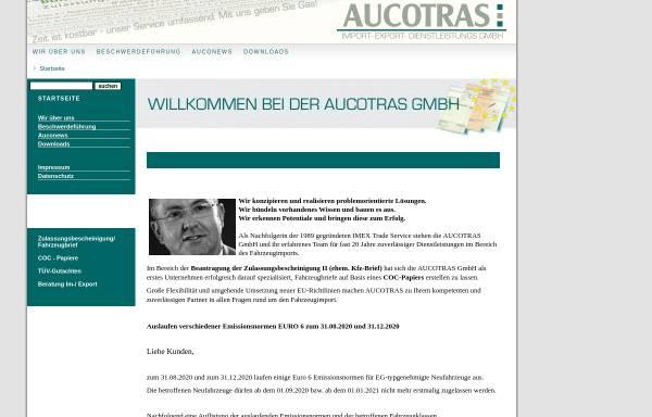 Vorschau von www.aucotras.de, Aucotras Import-Export-Dienstleistungs GmbH