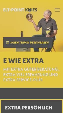 Vorschau der mobilen Webseite eltpoint.de, Elektro Knies & ELT Point Knies