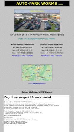 Vorschau der mobilen Webseite www.auto-park-worms.de, Auto-Park Worms