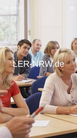 Vorschau der mobilen Webseite www.ler-nrw.de, Landeselternrat der Gesamtschulen NW e.V. (LER)