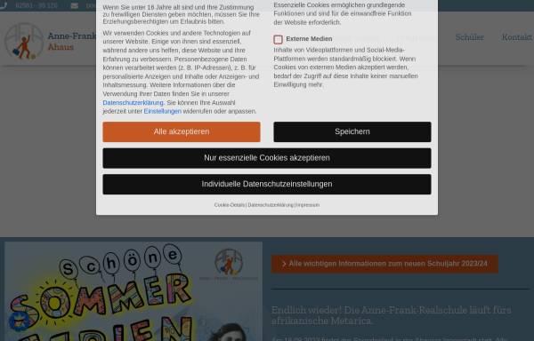 Vorschau von www.afr-ahaus.de, Anne-Frank-Realschule