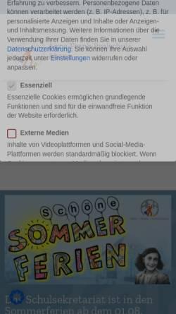 Vorschau der mobilen Webseite www.afr-ahaus.de, Anne-Frank-Realschule