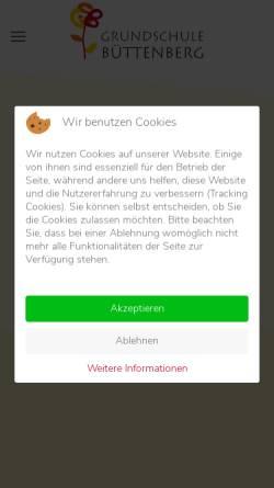 Vorschau der mobilen Webseite www.grundschule-buettenberg.de, Gemeinschaftsgrundschule Büttenberg