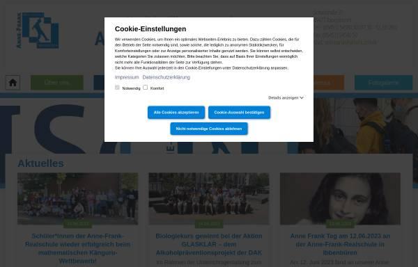 Vorschau von www.afrank-ibb.de, Anne-Frank-Realschule