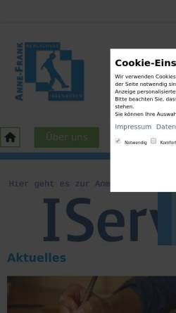 Vorschau der mobilen Webseite www.afrank-ibb.de, Anne-Frank-Realschule