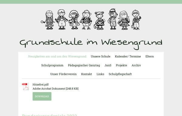 Vorschau von www.gs-im-wiesengrund.de, Städtische Grundschule Im Wiesengrund