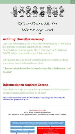 Vorschau der mobilen Webseite www.gs-im-wiesengrund.de, Städtische Grundschule Im Wiesengrund