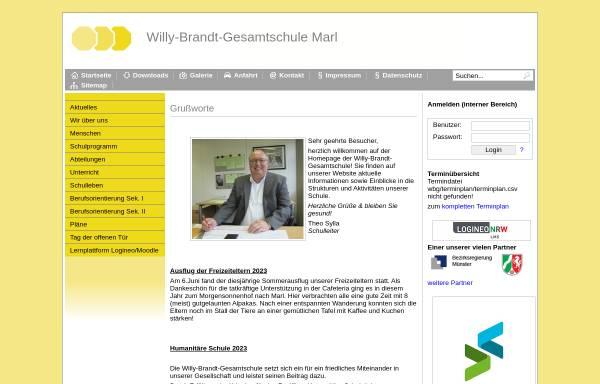 Vorschau von www.wbg.marl.de, Willy-Brandt-Gesamtschule (WBG)