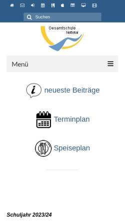 Vorschau der mobilen Webseite www.ge-nettetal.de, Städtische Gesamtschule Nettetal-Breyell