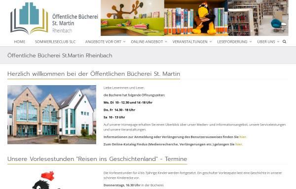Vorschau von www.buecherei-rheinbach.de, Öffentliche Bücherei St. Martin in Rheinbach