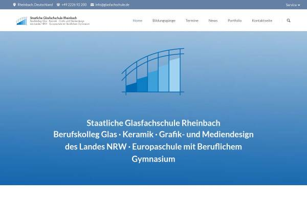 Vorschau von www.glasfachschule.de, Staatliches Berufskolleg Glas Keramik Gestaltung des Landes Nordrhein-Westfalen Rheinbach