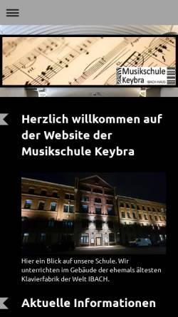 Vorschau der mobilen Webseite www.keybra.de, Musikschule Keybra