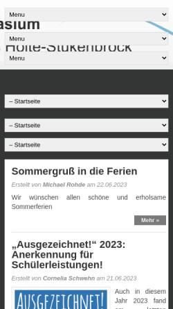 Vorschau der mobilen Webseite wordpress.gymnasium-shs.de, Gymnasium Schloß Holte-Stukenbrock