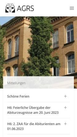 Vorschau der mobilen Webseite www.abendgymnasium-siegburg.de, Abendgymnasium Rhein-Sieg (AGRS)