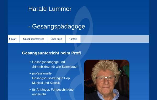 Vorschau von www.harald-lummer.de, Harald Lummer, Gesangspädagoge